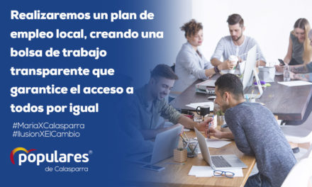 Realizaremos un plan de empleo local.